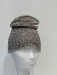 Mini-Turban in Cashmere-Wool Mix, Outlet ONLY IN BROWN !!