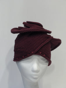 Turban in Cashmere-Mix, Outlet, bordeaux,