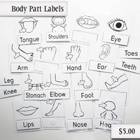 Body Part Labels