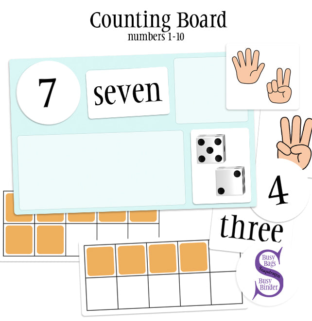 Counting Board #1-10 - Busy Bag