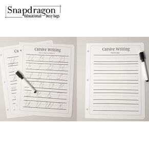 Cursive Writing - Binder Page
