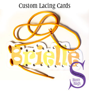 Custom Lacing Card