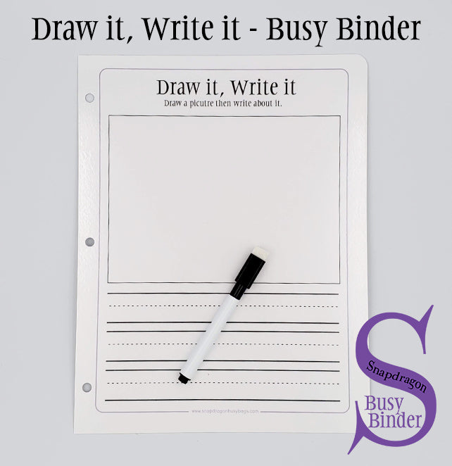 Draw it, Write it - Busy Binder