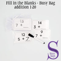 Fill in the Blank 1-20- Busy Bag