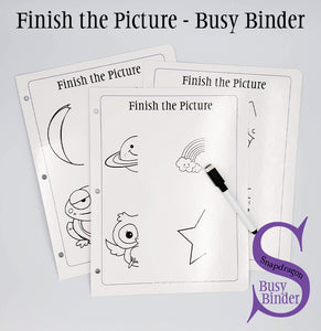 Finish the Picture - Busy Binder