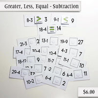 Greater, Less, Equal - Subtraction