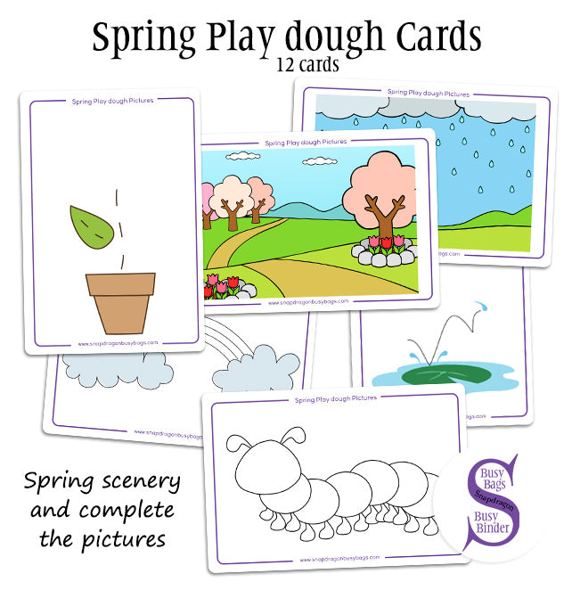 Spring Play Dough Cards