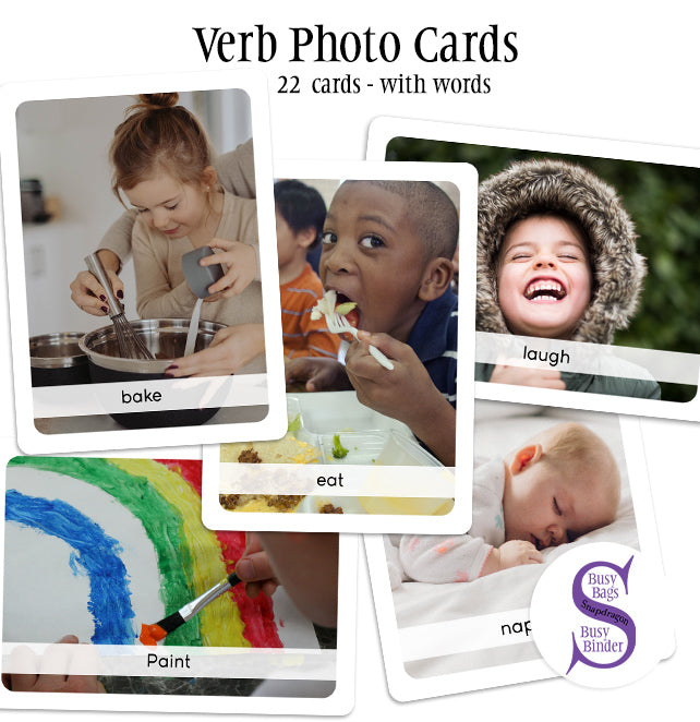 Verb Photo Cards