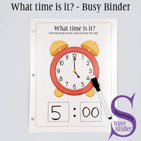 What time is it? - Busy Binder