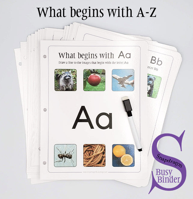 What begins with A-Z