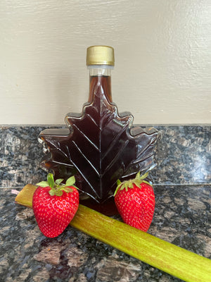 Strawberry Rhubarb Infused Vermont Maple Syrup