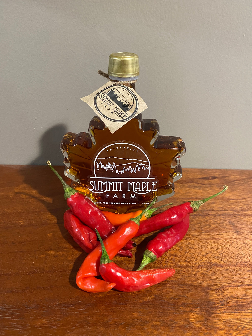 Hot Chili Pepper Infused Maple Syrup