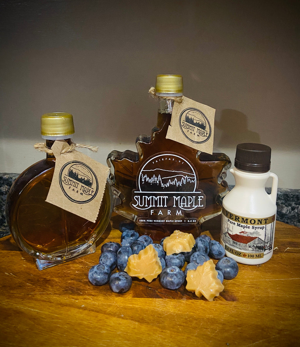Blueberry infused Vermont Maple Syrup