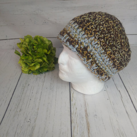 Men's Hat- Brown/Grey