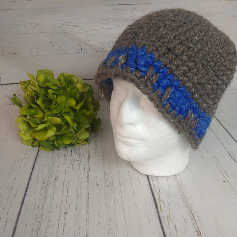 Men's Hat- Grey/Blue