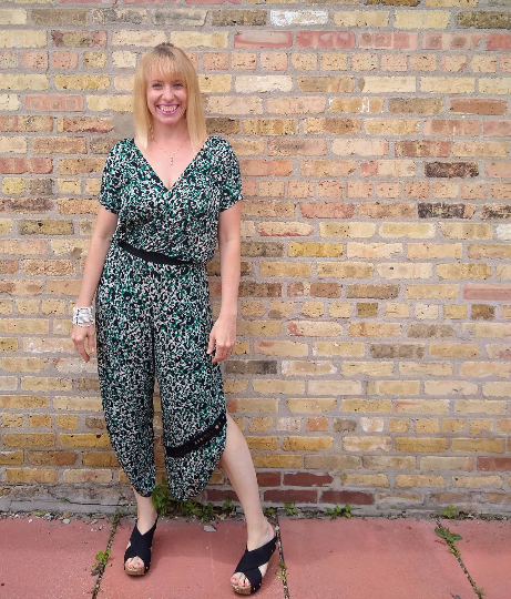 Jennifer Jumpsuit- Green Animal Print