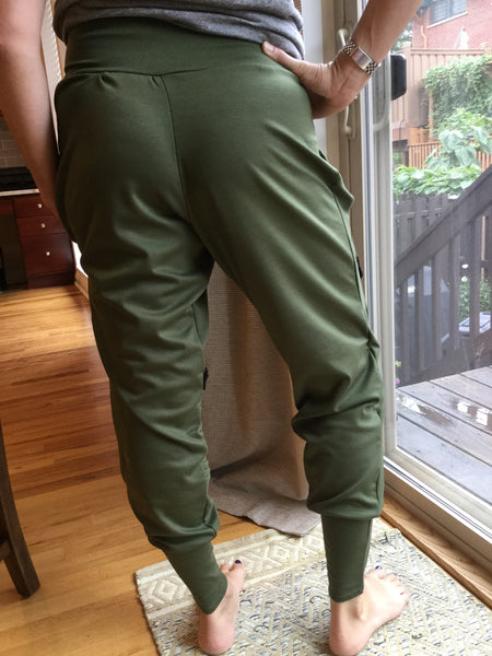 NEW! Jeanne Moto Joggers- Army Green