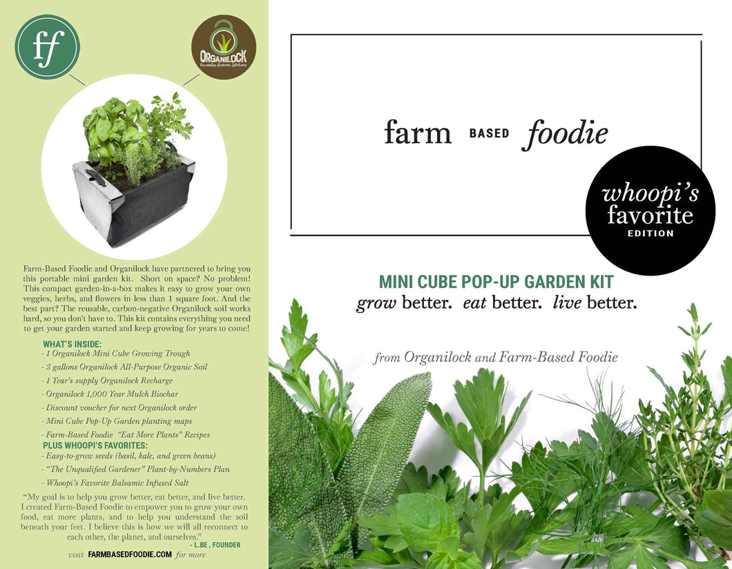 Mini Cube Pop-Up Garden Kit - Whoopi's Favorite Edition