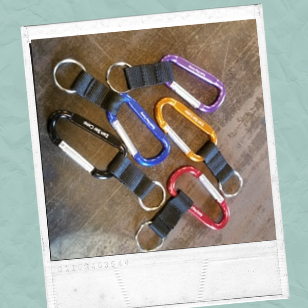 Carabiner with Keychain Loop
