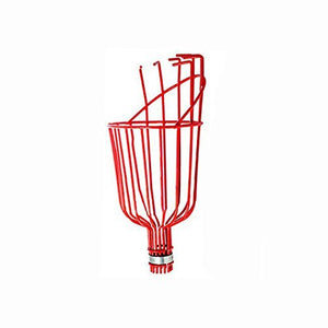 Metal Fruit Pickers with Long Telescoping 8ft Pole & Basket - Reach Fruit up to 15ft (2 pk)