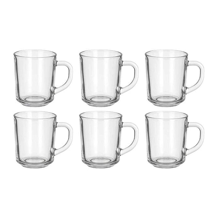 Clear Glass Coffee & Tea Mugs 8 oz