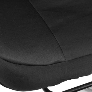 White Grey Skull Low Back Seat Covers Bench Seat Cover