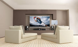 Supreme Amplified Boostwaves Razor 30 HDTV Indoor Flat Leaf Antenna With RG6 Cable. Cut The Cable Cord get up to 60 HDTV Channels for FREE