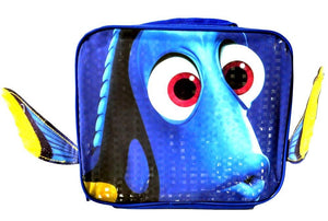 Disney Pixar Finding Dory Girls Insulated Lunch Box Bag Kit with Fins Blue School