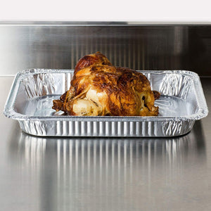 Durable Disposable Aluminum Foil Steam Turkey Roaster Pans, Full Size Deep, Heavy Duty Baking Roasting Broiling 17 X 12.5 X 3 Thanksgiving(15)