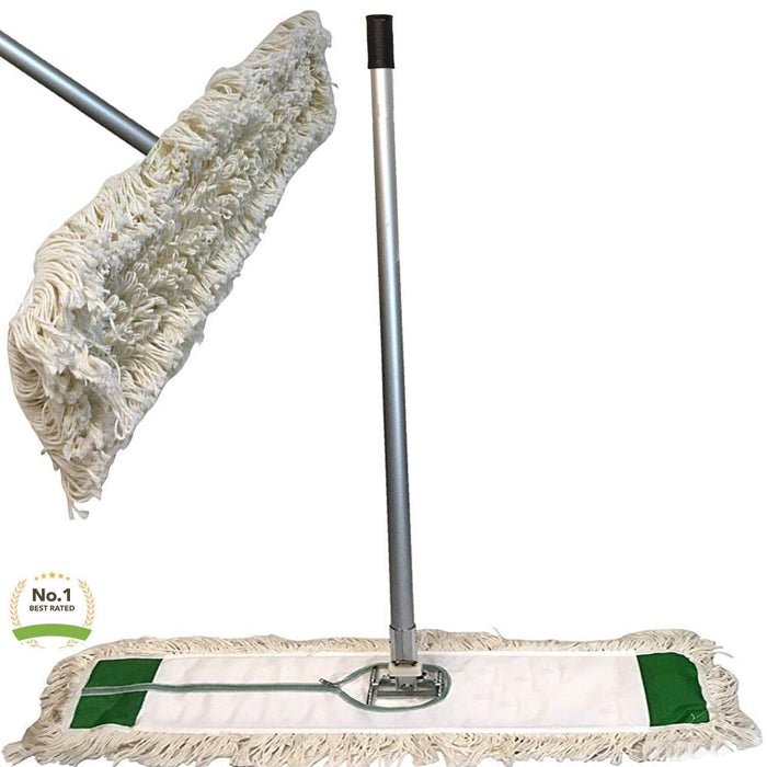 "Industrial 24"" Strength Cotton Dust Mop with Head 