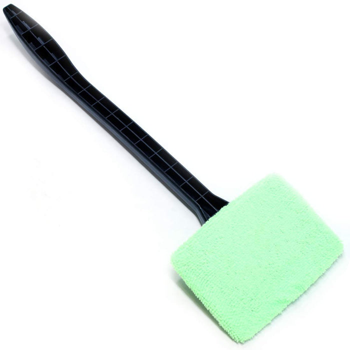 "Easy Wipe Microfiber Magic Windshield Cleaner Wand 15.5"" Long Handled Cleaning Tool and Terry Bonnet Automotive Easy Reach Reusable for Car Automobile Windows Television Screens Mirrors Windows"