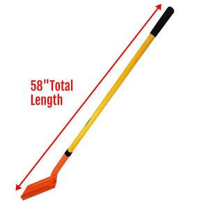 LavoHome 5 Inch Trenching Shovel with 49 Inch Fiberglass Handle for Clean Cut Digging Trenches