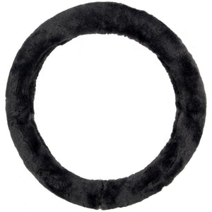Plush Genuine Sheepskin Stretch-On Steering Wheel Cover For Ultimate Comfort...