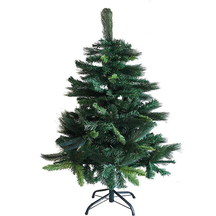 Unique Imports Prestige Spruce Artificial Pine Christmas Tree with Metal Stand 4 FT. Eco Friendly Xmas Holiday Decoration - Our Plushest Tree
