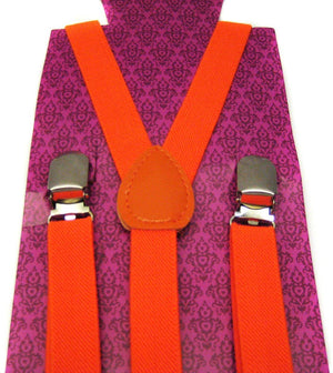 Hot Punk Braces Suspender Orange Unisex Emo Goth