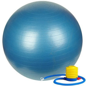 Fitness Yoga 75cm Exercise Ball with Foot Pump - Includes 1 Ball +1 Pump + 1 Page Instruction Chart No DVD - No -Exercise Gym Swiss Stability Ball - for 6Ft & up Big & Tall Users