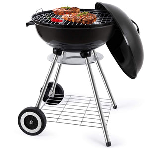 "Kettle Style 18"" Portable Outdoor Charcoal Barbecue Grill"