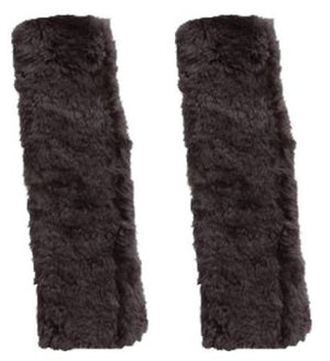 Sheepskin Seat Belt Shoulder Pads, Grey Color (Pair)