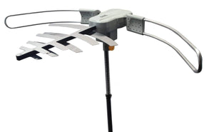 Boostwaves Premium HDTV Long Range Digital TV Antenna - Powered for Maximum Distance Over the Air TV Stations