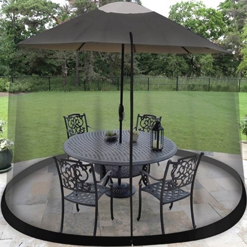 9 FT. UMBRELLA TABLE SCREEN BLACK