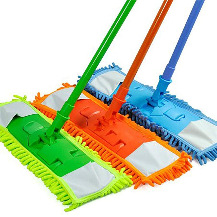 Microfiber Super Absorbent Dust Mop with Handle Telescoping Pole Floor Cleaner Noodle Mop - Aborbs 3x its Weight!