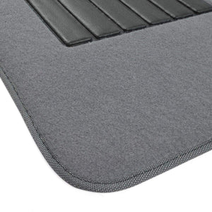 BDK MT-100-BK Classic Carpet Floor Mats for Car & Auto - Universal Fit -Front & Rear with  Heelpad (Black)