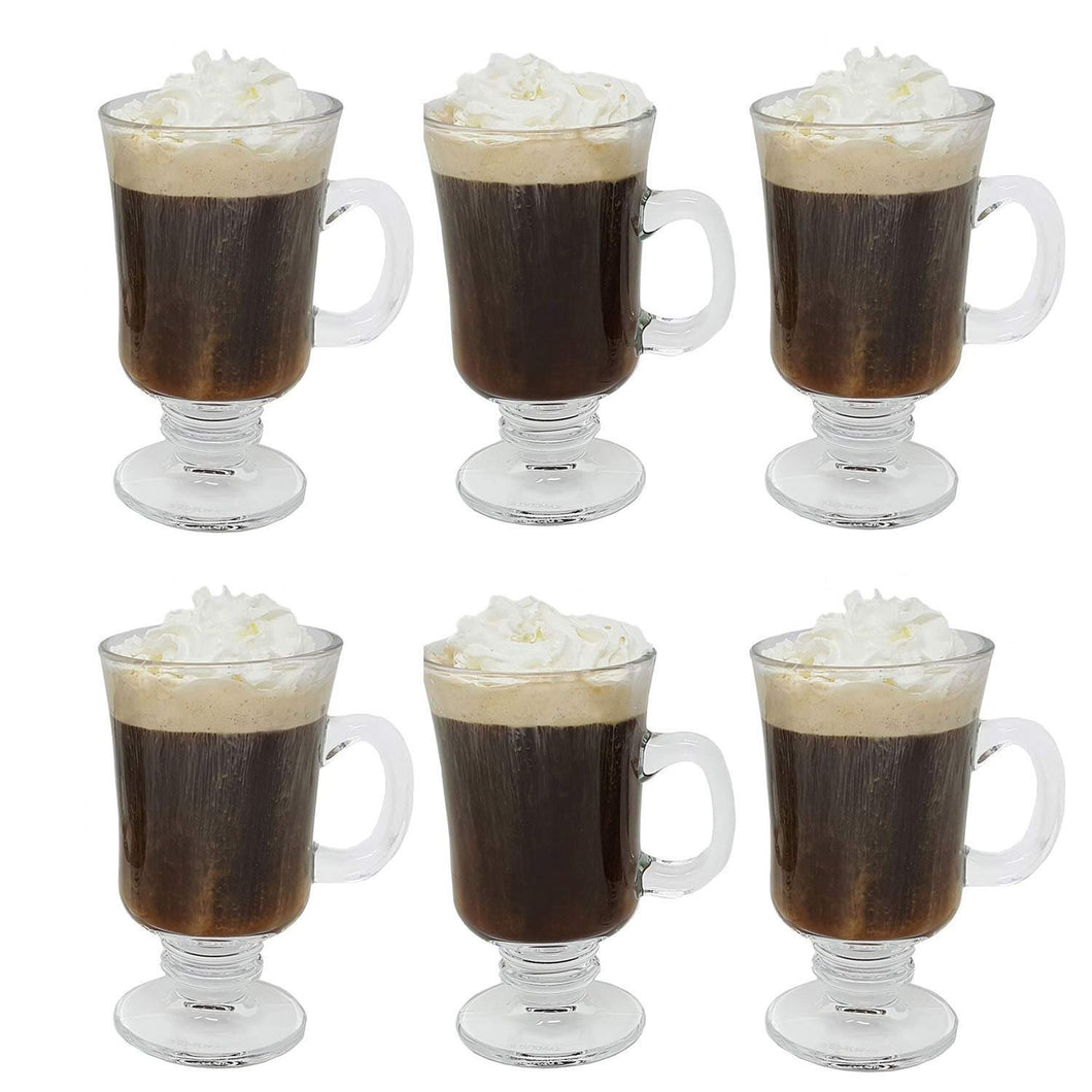 Irish Coffee & Dessert Glass Mugs 8 Oz (set of 6)