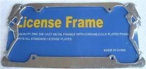 Twin Ladies License Plate Frame (Chrome Metal)
