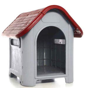 All Weather Dog Cat House Puppy Shelter Waterproof Plastic Roof