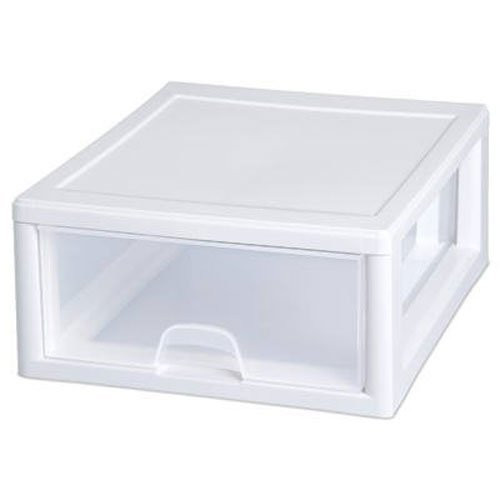 Sterilite 23018006 16 Quart Stacking Drawer, Clear