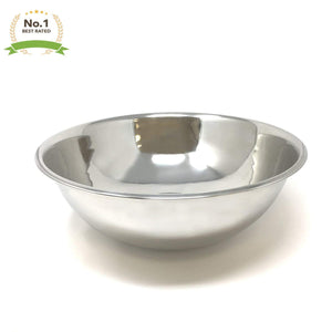 Durable Stainless Steel Mixing Bowl 17.5 Quarts (44cm) Multipurpose Cooking Baking Salad Footed Mixing Bowl Mirror Finish