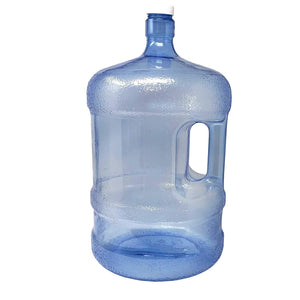 LavoHome Plastic Water Bottle 5 Gallons Jug Container with Cap, Easy Grip Carry Handle | for Sports Camping Residential Commercial Use | BPA Free Food Grade & Reusable