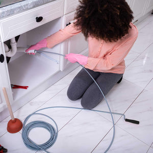 9.8 Ft Spiral Drain Opener Spring Wire Rod Auger Snake Pipe Unclog Sink,Tub, Toilet, Shower, Kitchen, Basins and Pipes