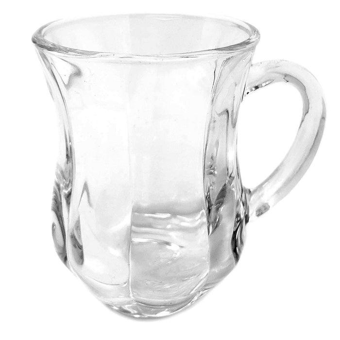 Turkish Style Tea/Espresso Glass cup with Handles, 4 1/2 Oz.